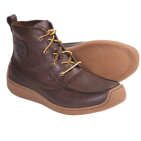 Sorel Chugalug Chukka Boots - Leather (For Men) in Brownstone