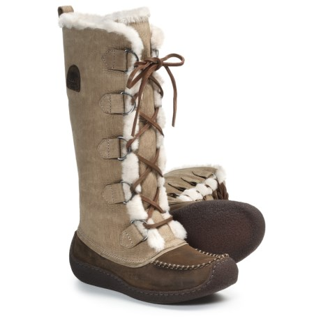 Sorel Chugalug Tall Boots - Leather (For Women) in Laurel Leaf
