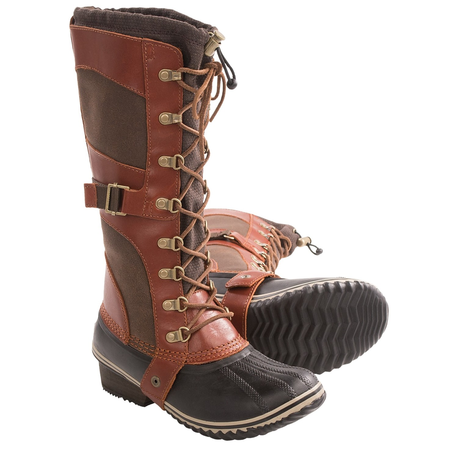 sorel conquest boots leather insulated for