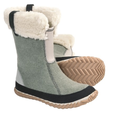 Sorel Cozy Bou Boots - Recycled Felt (For Women) in Grey Green