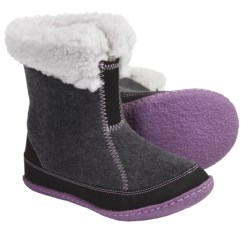 Sorel Cozy Bou Boots - Recycled Felt (For Youth) in Coal/Black
