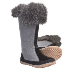 Sorel Cozy Cate Tall Boots - Recycled Felt (For Women) in Light Grey