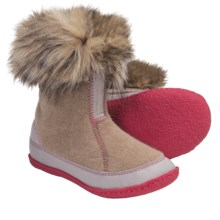 Sorel Cozy Joan Boots - Recycled Felt (For Youth Girls) in British Tan/Tusk - Closeouts