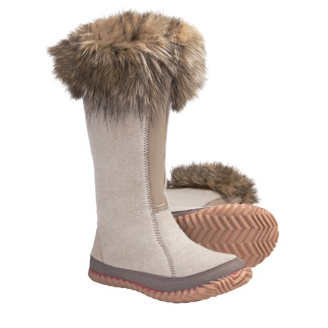 Sorel Cozy Joan Tall Boots - Recycled Felt (For Women) in Natural