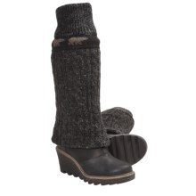 Sorel Crazy Cable Wedge Cable-Knit Boots (For Women) in Black - Closeouts