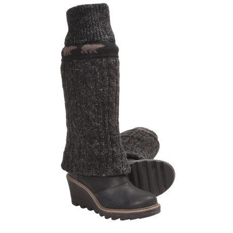 Sorel Crazy Cable Wedge Cable-Knit Boots (For Women) in Black
