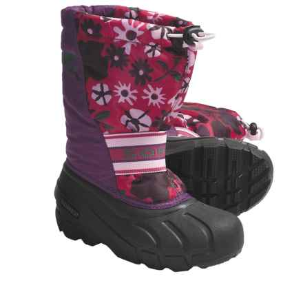 Sorel Cub Pac Boots (For Youth) in Gloxinia/Bright Rose - Closeouts
