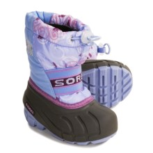 Sorel Cub Pac Boots - Insulated (For Kids) in Sweet Pea/Wild Orchid - Closeouts