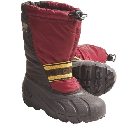 Sorel Cub Pac Boots - Insulated (For Youth) in Isla/Crushed Berry