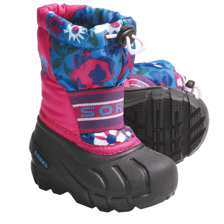 Sorel Cub Pac Boots - Waterproof, Insulated (For Toddlers) in Bright Rose/Black