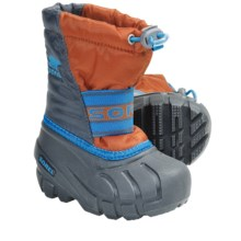 Sorel Cub Pac Boots - Waterproof, Recycled Liner (For Toddlers) in Charcoal/Harvester - Closeouts