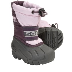 Sorel Cub Pac Boots - Waterproof, Recycled Liner (For Toddlers) in Black