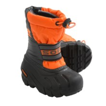 Sorel Cub Pac Boots - Waterproof, Recycled Liner (For Toddlers) in Signal Orange - Closeouts