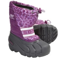 Sorel Cub Winter Pac Boots (For Kids) in Raspberry/Hydrangea - Closeouts