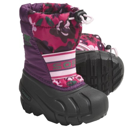 Sorel Cub Winter Pac Boots - Waterproof, Insulated (For Toddlers) in Bright Rose/Black