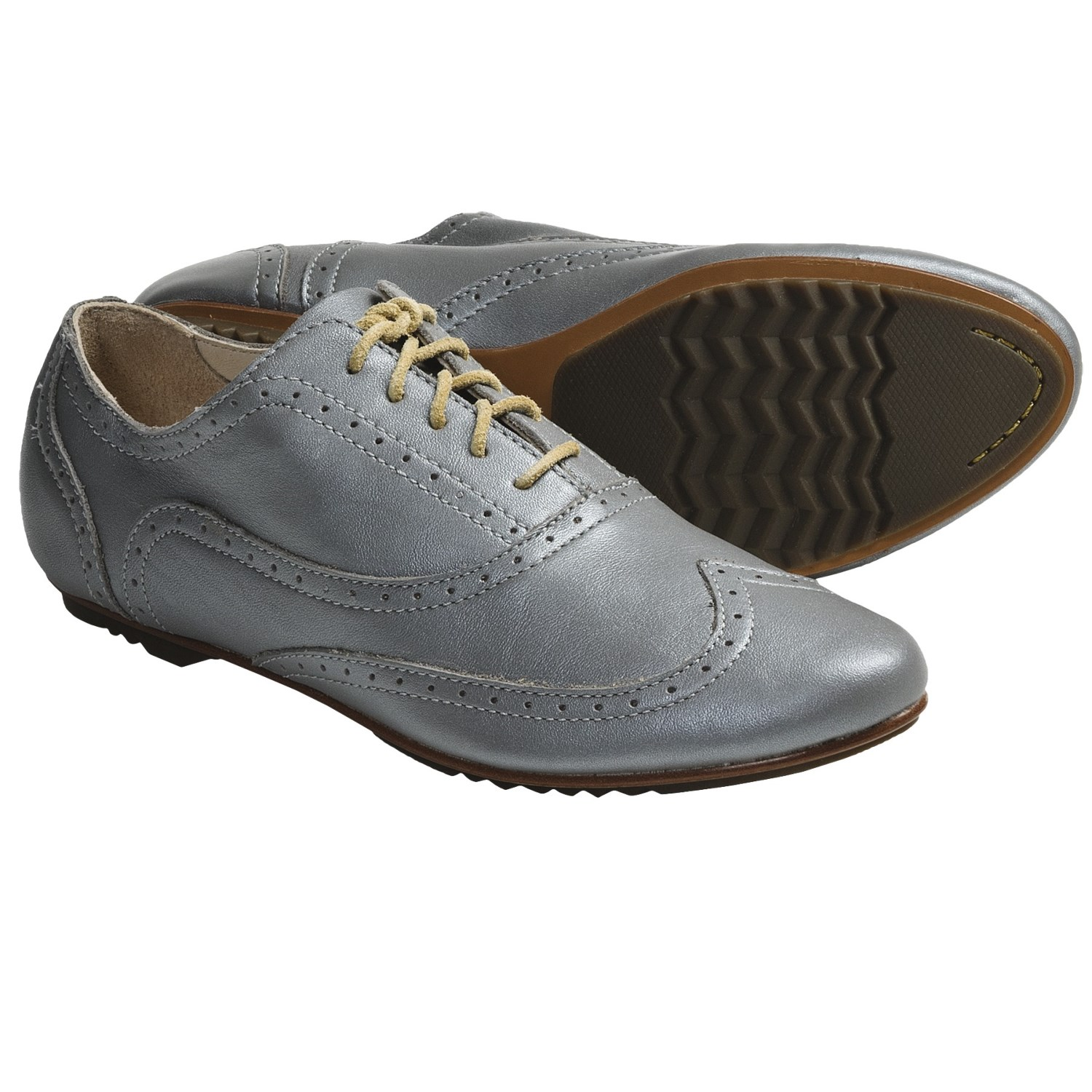 Casual Women's Leahter Shoes with Genuine Leather Upper and Tpr Outsole