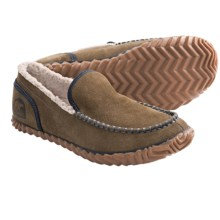 Sorel Dude Moc Slippers (For Men) in Olive Brown - Closeouts