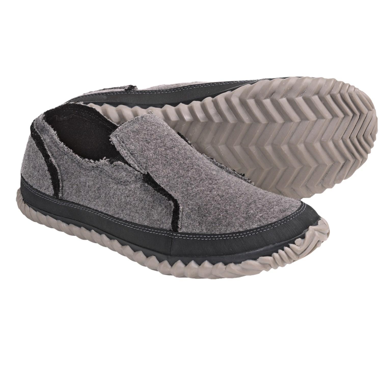 sorel felt moc slipper shoes slip ons for