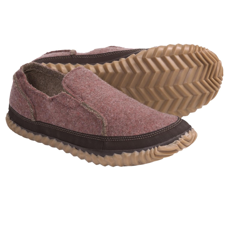 sorel felt moc slipper shoes slip ons for in