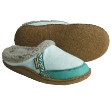 Sorel Felt Nakiska Slippers - Faux-Fur Lining (For Kids and Youth) in Shimmer/Reef - Closeouts