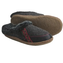 Sorel Felt Nakiska Slippers - Faux-Fur Lining (For Women) in Coal/Intense Red - Closeouts