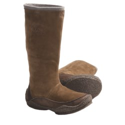 Sorel Fernie Tall Boots - Nubuck (For Women) in Curry/Wild Dove