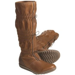 Sorel Firenzy Plaid Boots - Leather (For Women) in Tobacco/Tusk