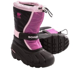 Sorel Flurry TP Pac Boots - Insulated (For Youth) in Prairie Rose/Black