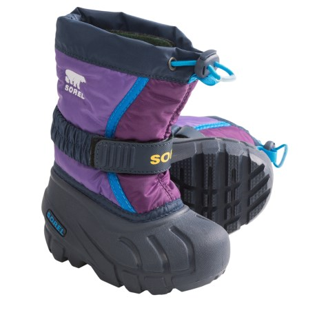 Sorel Flurry TP Winter Pac Boots - Insulated (For Toddlers) in Hyacinth/Gloxinia