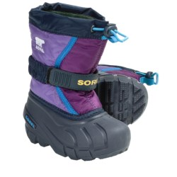 Sorel Flurry TP Winter Pac Boots - Insulated (For Youth) in Prairie Rose/Black