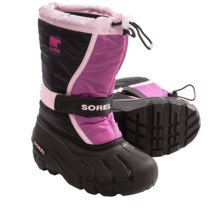 Sorel Flurry TP Winter Pac Boots - Insulated (For Youth) in Prairie Rose/Black - Closeouts