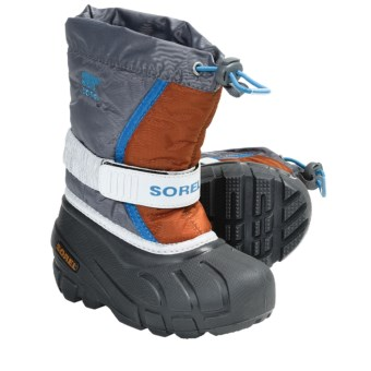 Sorel Flurry Winter Pac Boots - ThermoPlus, Waterproof, Insulated (For Kids) in Boulder/Harvester