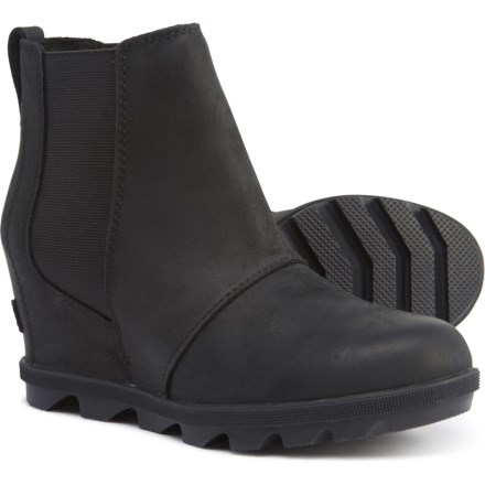1dc96b14bc5 Sorel Joa Wedge II Chelsea Boots - Waterproof, Leather (For Women) in Black