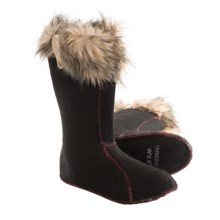 Sorel Joan of Arctic Boot Liners - Faux-Fur Collar (For Women) in Oatmeal - Closeouts