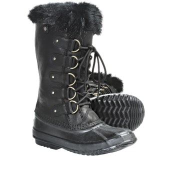 Sorel Joan of Arctic Premium Winter Boots - Waterproof, Leather (For Women) in Black