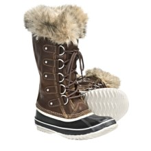 Sorel Joan of Arctic Premium Winter Boots - Waterproof, Leather (For Women) in Cappuccino/Oxford Tan - Closeouts