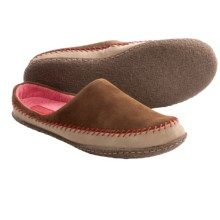Sorel Joplin Moc Shoes - Slip-Ons (For Women) in Grizzly Bear/Bright Red - Closeouts