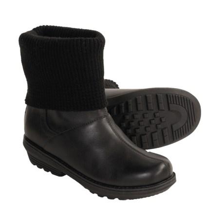 Sorel Juneau Winter Leather Boots - Waterproof, Insulated (For Women) in Black