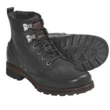 Sorel King Stacked Moc Mid Boots - Leather (For Men) in Black - Closeouts