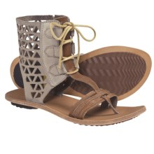 Sorel Lake Boot Sandals - Leather (For Women) in Pebble - Closeouts