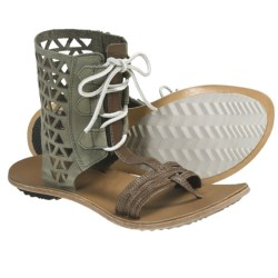 Sorel Lake Boot Sandals - Leather (For Women) in Pebble
