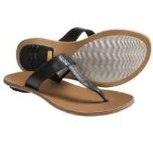 Sorel Lake Slide Sandals - Leather (For Women) in Black - Closeouts