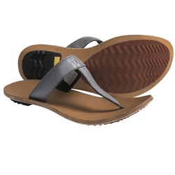 Sorel Lake Slide Sandals - Leather (For Women) in Black