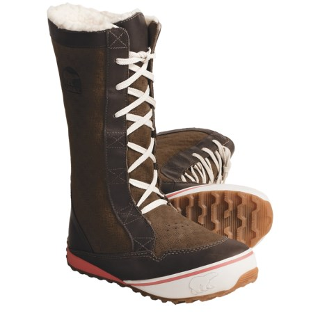 Sorel MacKenzie Lace Boots - Tall, Insulated (Women) in Saddle/Wild Melon