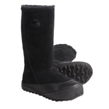 Sorel MacKenzie Slip Boots - Tall, Fleece Lined (For Women) in Black/Stone - Closeouts