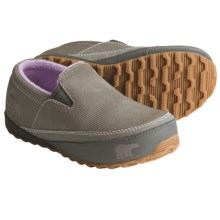 Sorel MacKenzie Slip Shoes - Insulated (For Youth) in Hydrangea/Charcoal - Closeouts