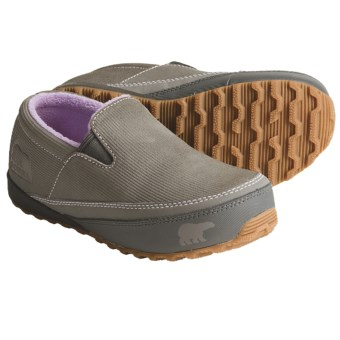 Sorel MacKenzie Slip Shoes - Insulated (For Youth) in Hydrangea/Charcoal