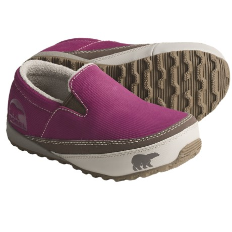 Sorel MacKenzie Slip Shoes - Insulated (For Youth) in Tarte/Tusk