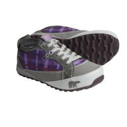 Sorel MacKenzie Sneakers - Fleece Lined (For Youth) in Charcoal/Royal Purple