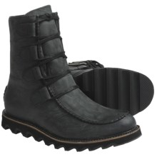 Sorel Mad Boots - Leather, Lace-Ups (For Men) in Black - Closeouts